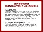 environmental and conservation organizations
