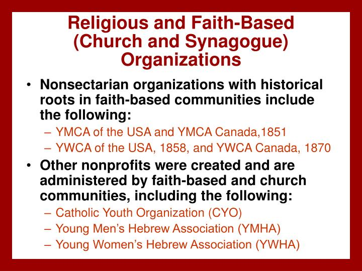 Religious and Faith-Based