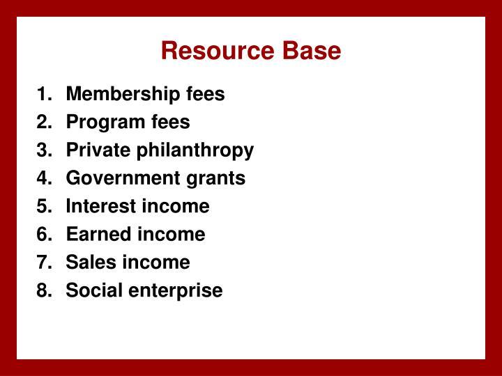 Resource Base