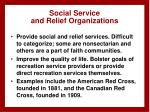 social service and relief organizations