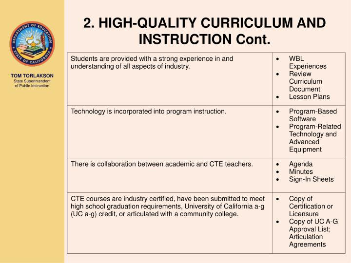 what is curriculum and instruction