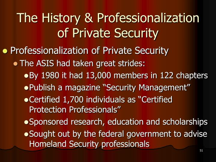 The History & Professionalization