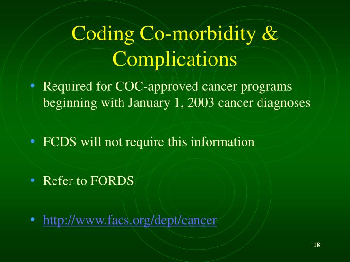 Coding Co-morbidity & Complications