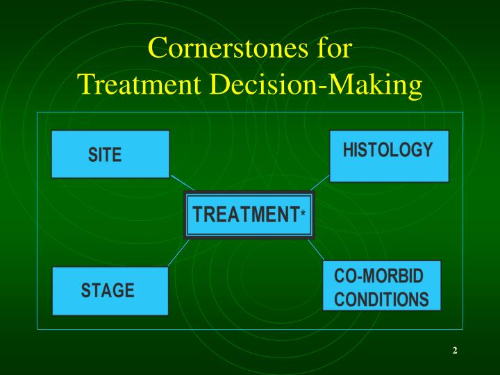 Cornerstones for treatment decision making