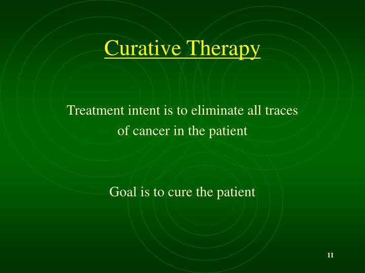 Curative Therapy