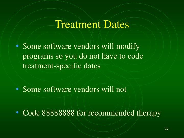 Treatment Dates