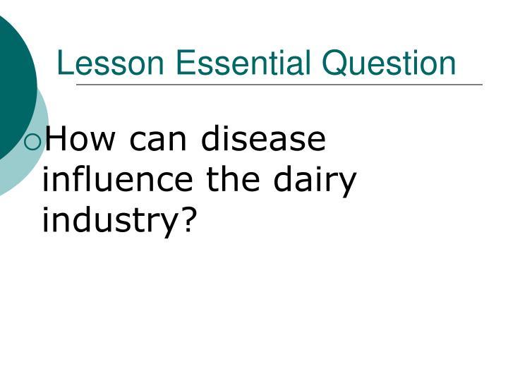 Lesson Essential Question