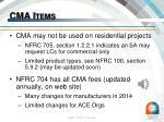 cma items