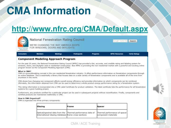CMA Information