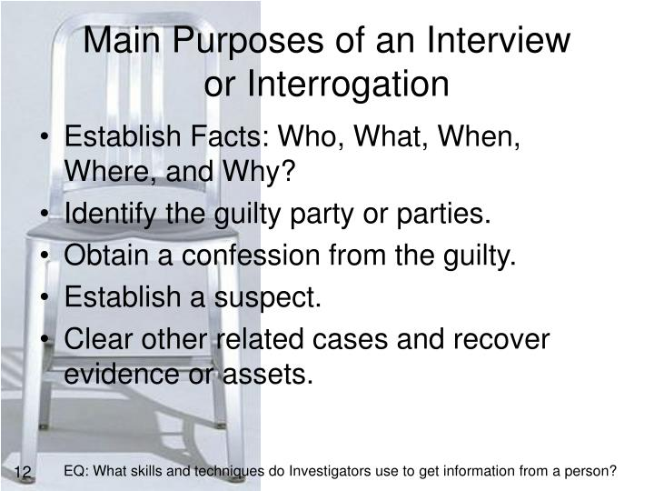 Main Purposes of an Interview