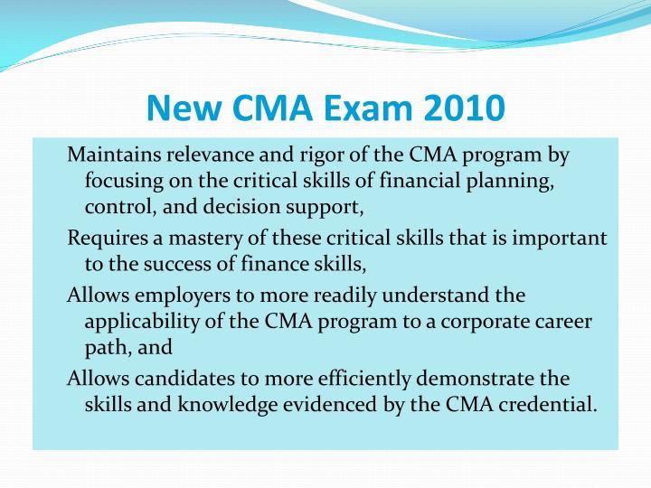 New CMA Exam 2010