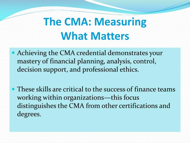 The cma measuring what matters1