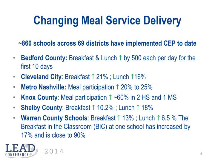 Changing Meal Service Delivery