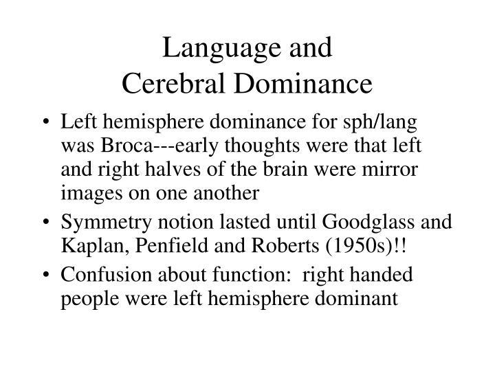 Language and