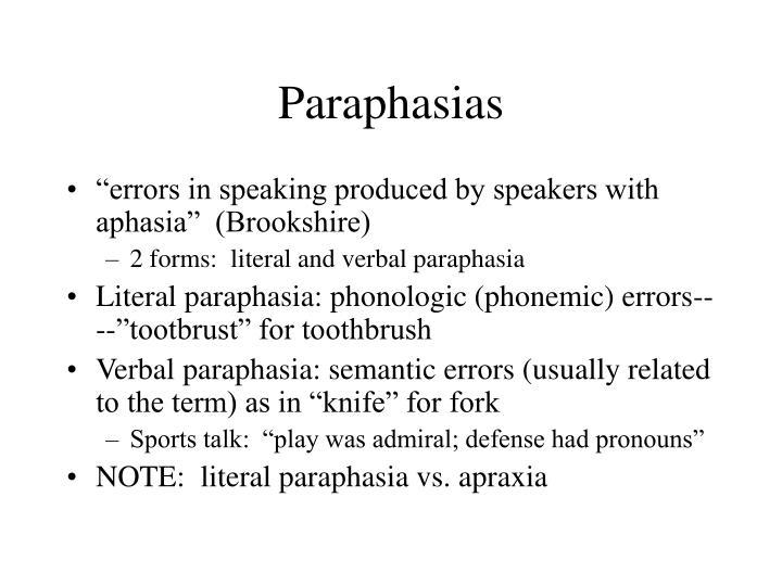 Paraphasias