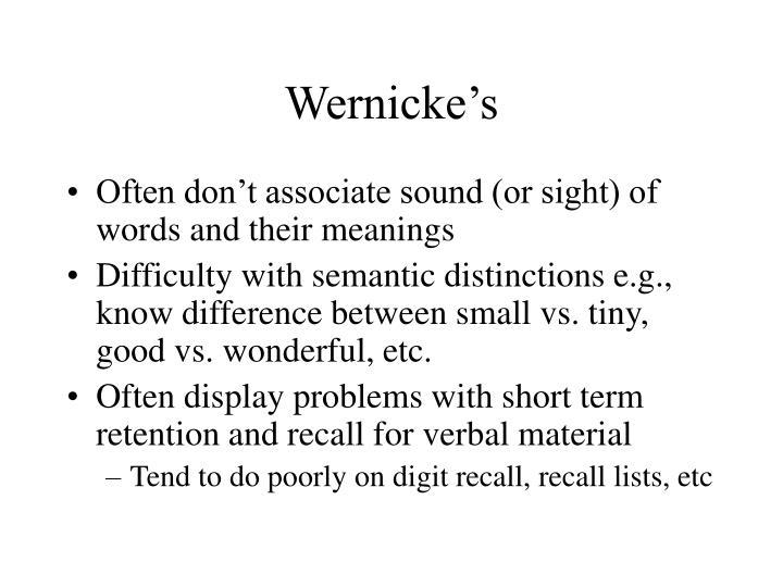 Wernicke's
