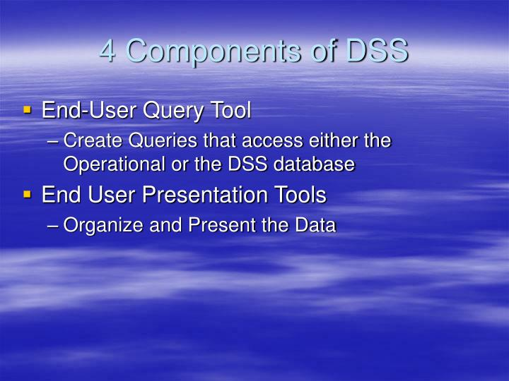 4 Components of DSS