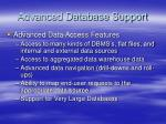 advanced database support