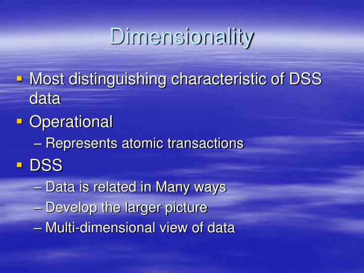 Dimensionality