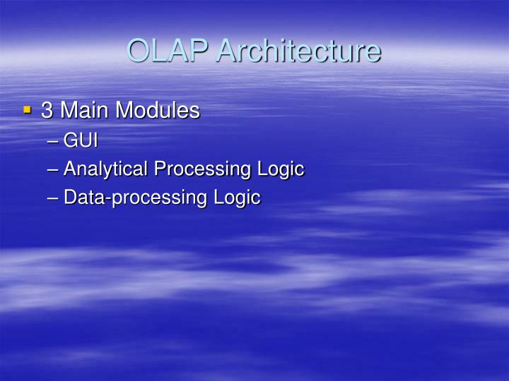 OLAP Architecture