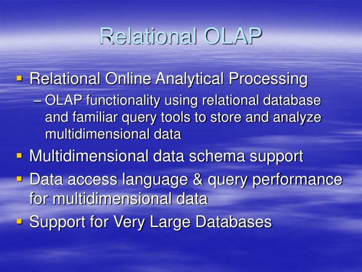 Relational OLAP