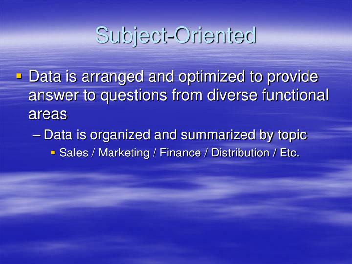 Subject-Oriented