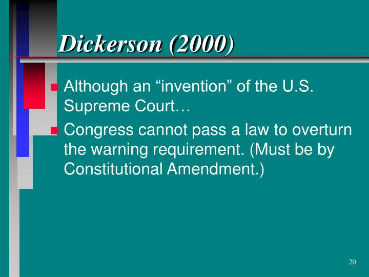 Dickerson (2000)