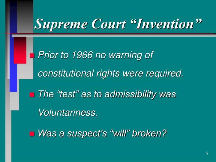 """Supreme Court """"Invention"""""""
