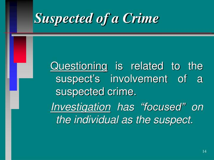 Suspected of a Crime