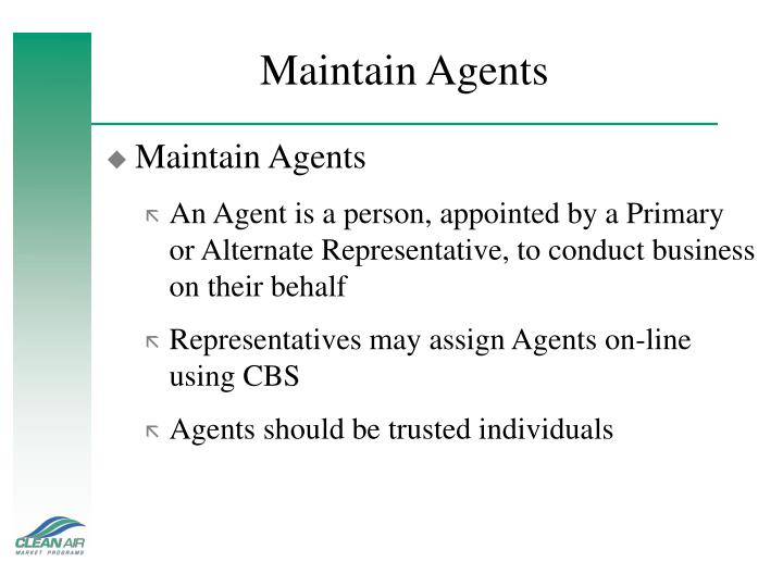 Maintain Agents