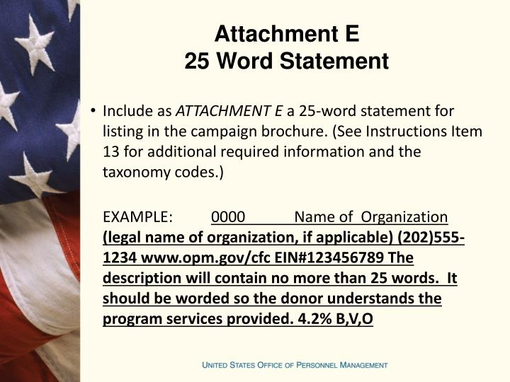 Attachment E