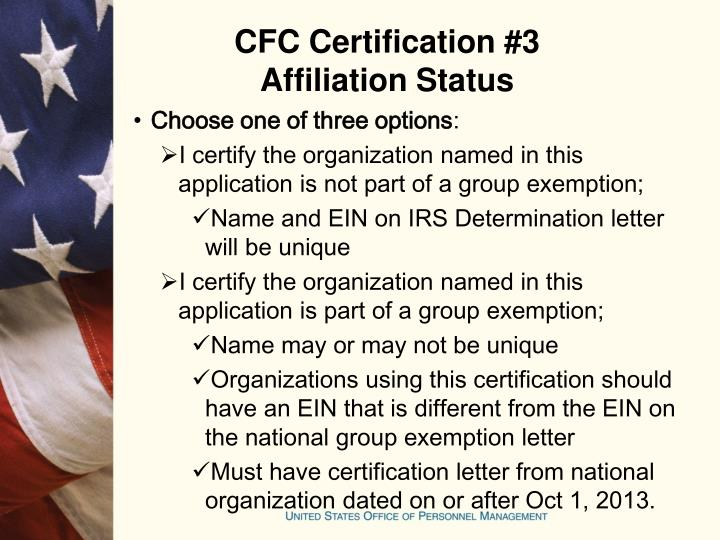 CFC Certification #3