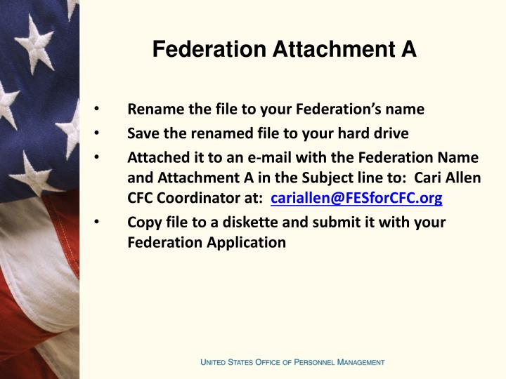Federation Attachment A