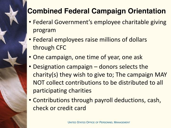 Combined Federal Campaign Orientation