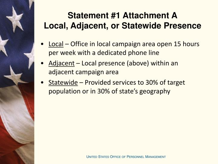 Statement #1 Attachment A