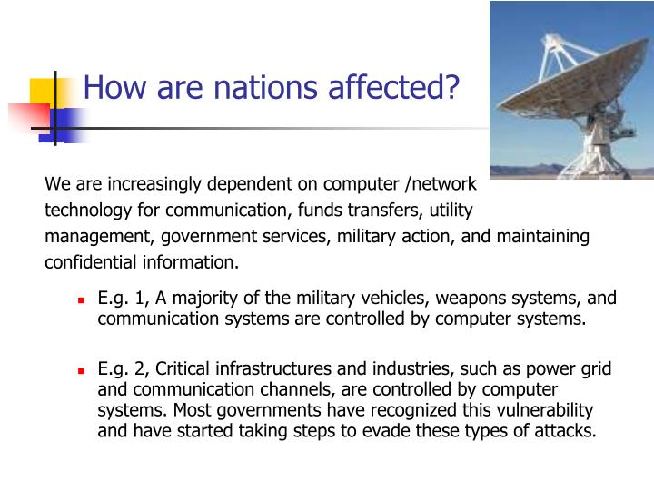 How are nations affected?