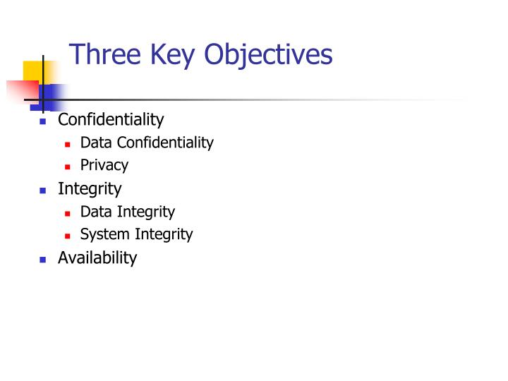 Three Key Objectives