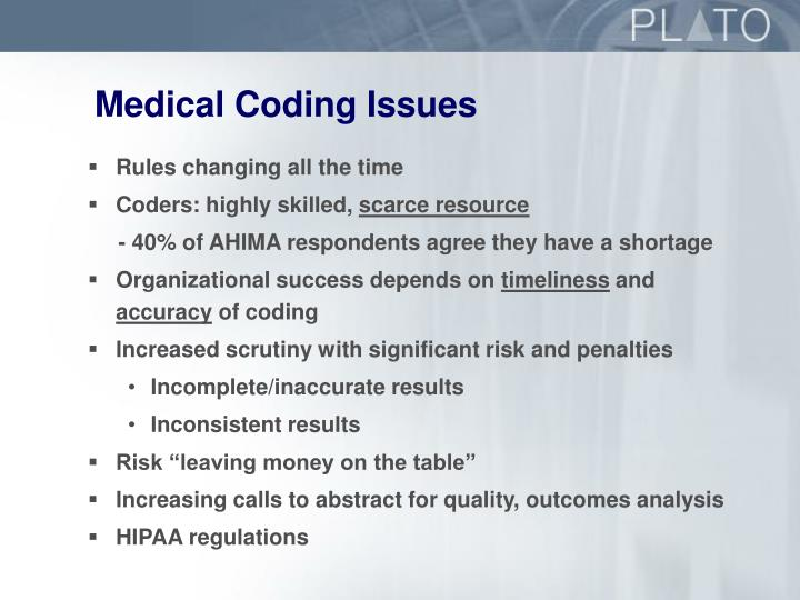 Medical Coding Issues