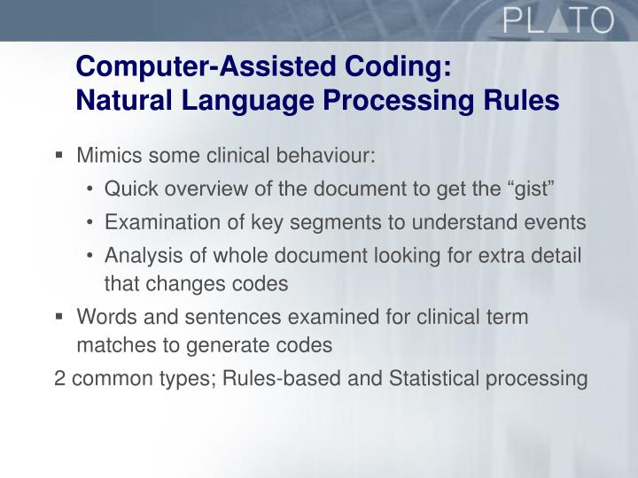 Computer-Assisted Coding: