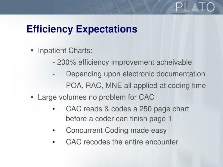 Efficiency Expectations