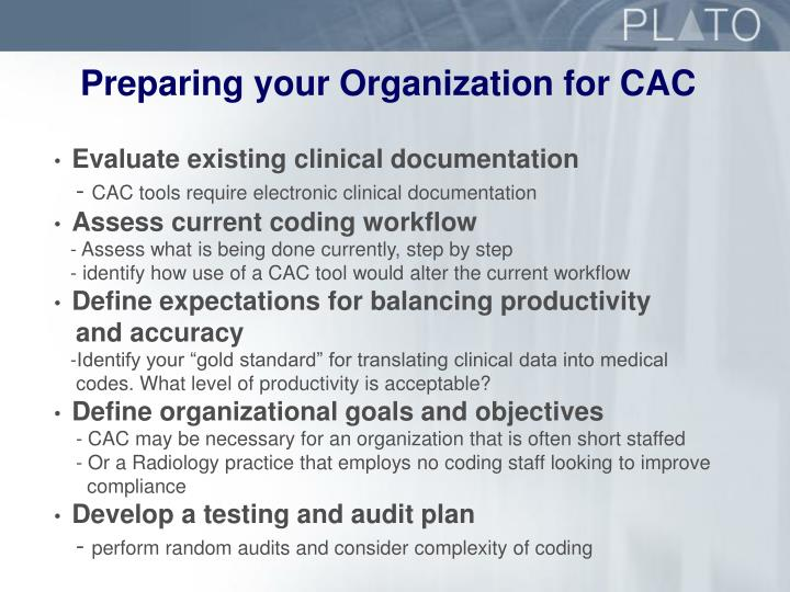 Preparing your Organization for CAC