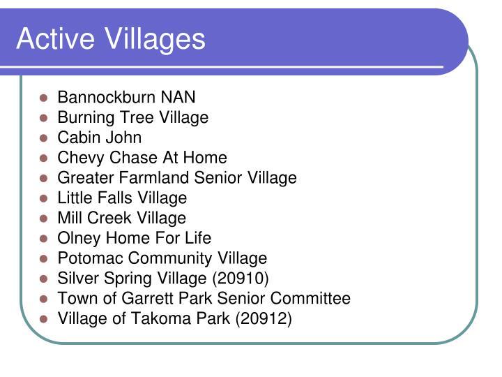 Active Villages