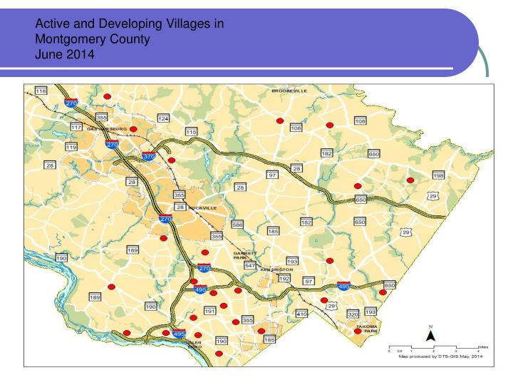 Active and Developing Villages in Montgomery County