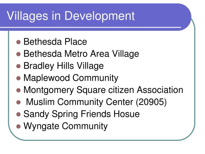 Villages in Development