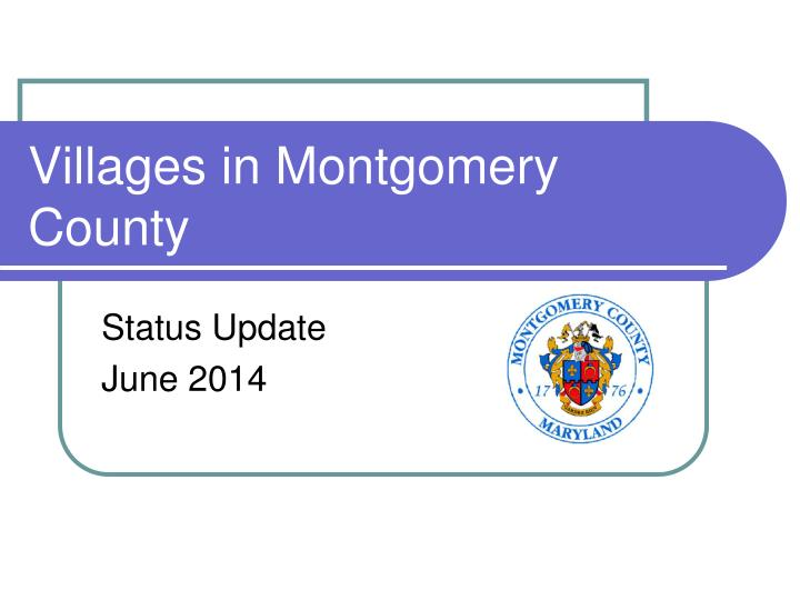 Villages in Montgomery County