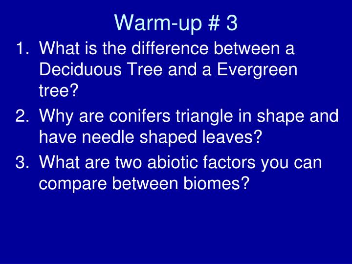 Warm-up # 3