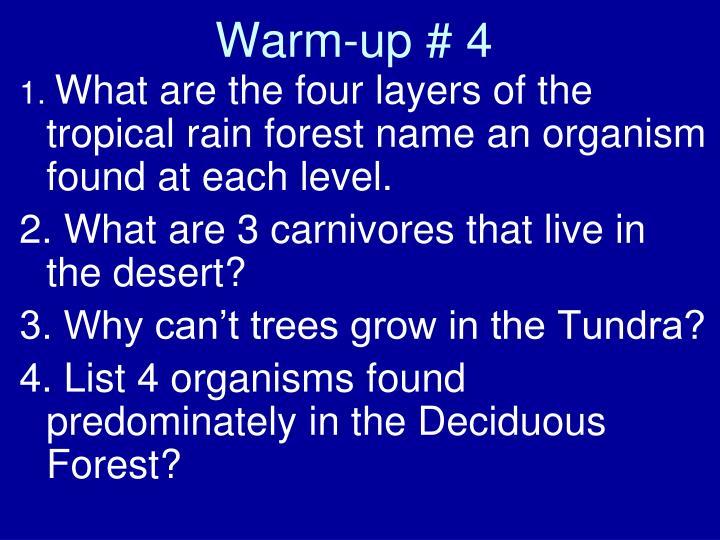 Warm-up # 4