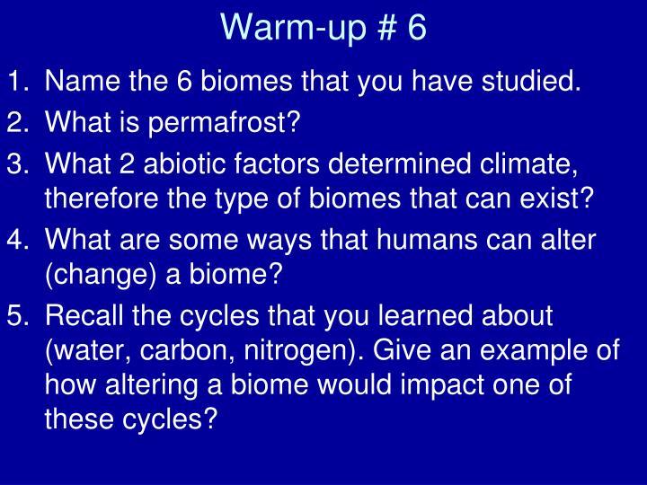 Warm-up # 6