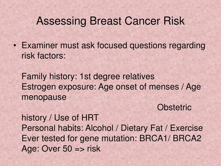 Assessing Breast Cancer Risk