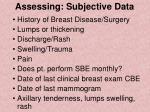 assessing subjective data